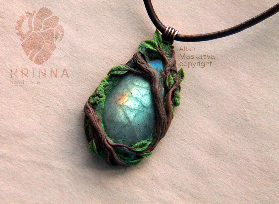 Enchanted forest pendant by Krinna