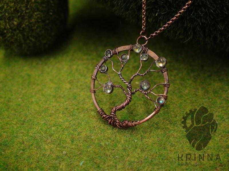 copper wire wrap tree by Krinna