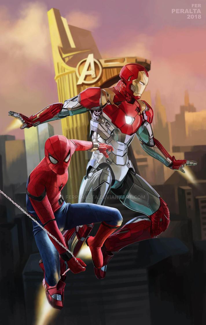 Spiderman - Ironman by FerPeralta