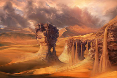 Desert Waterfall Concept by PatheaGames