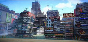 Cyberpunk Chinese City