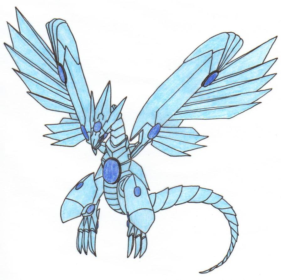Blue eyes white shining dragon
