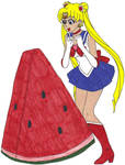 Sailor Moon's Giant Watermelon