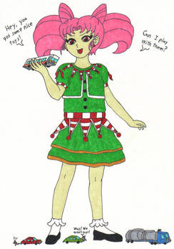 Christmas Chibiusa Wants to Play