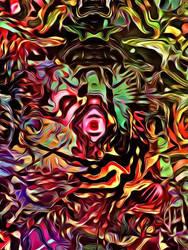 Colorful, Splattered Corruption  by Kicen