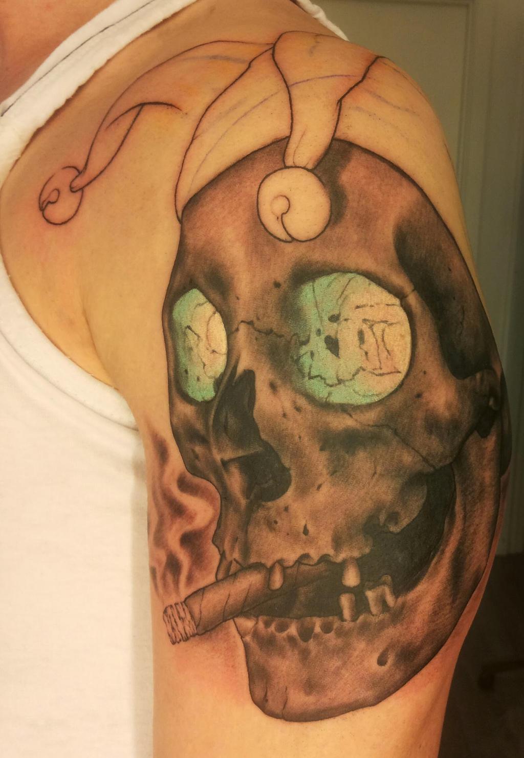 Realistic joker skull tattoo by soederberg on deviantart for Joker skull tattoo