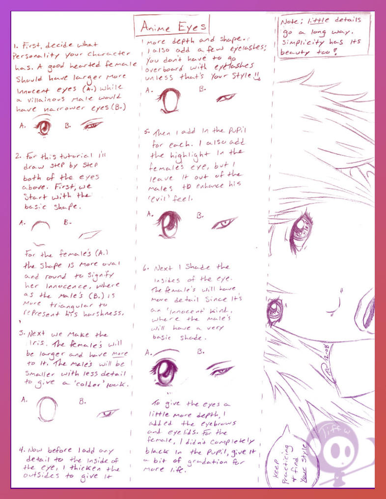 Anime Eyes Quickie Tutorial by Kurai-Chouwa