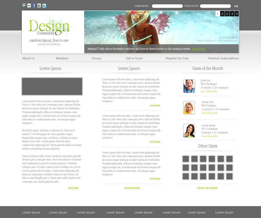 Design Community Concept by tecsoft