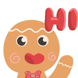 gingerbread man emote
