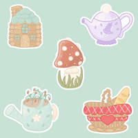 Cottagecore Sticker Set by cinnaminun