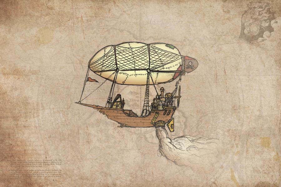 little steampunk airship by Van-Oost on DeviantArt