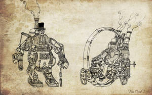 Steampunk Gentlemen by Van-Oost
