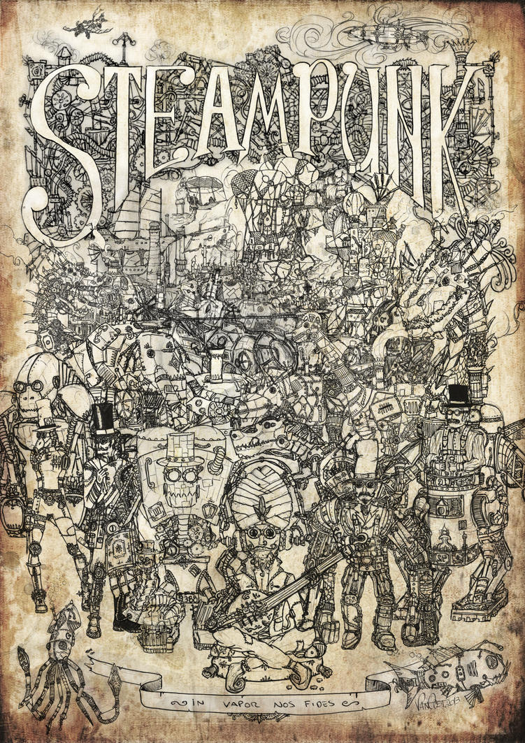 Steampunk Mashup Poster by Van-Oost