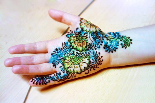 Glittery glitter. And henna.