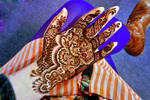 Henna flowers, details and bright colours