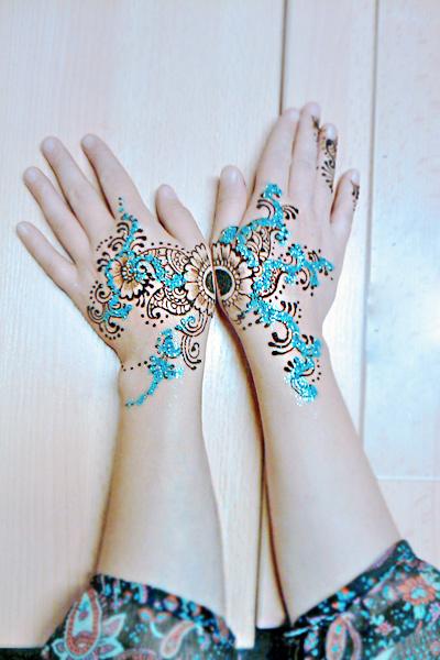 Blue Henna Tattoo: Blue Henna By Cydienne On DeviantArt