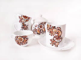 Henna Tea Set