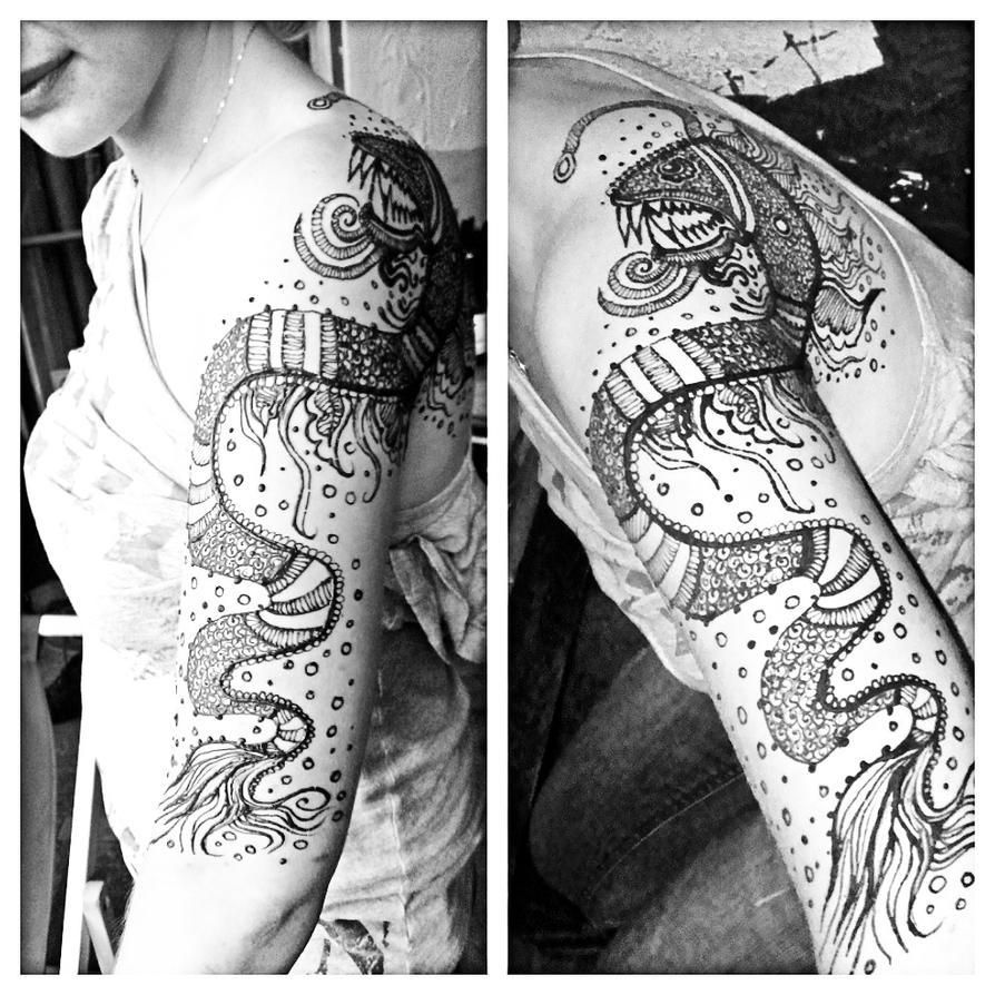 Anglerfish henna by cydienne