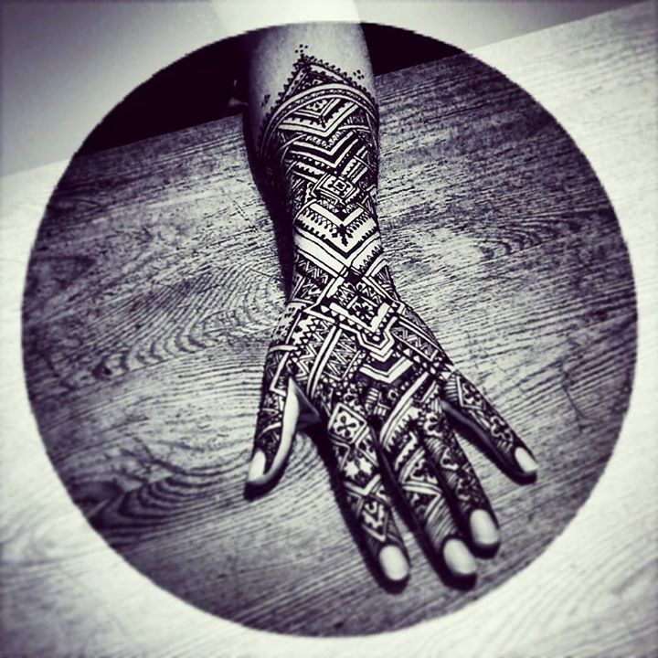 Moroccan style henna by cydienne