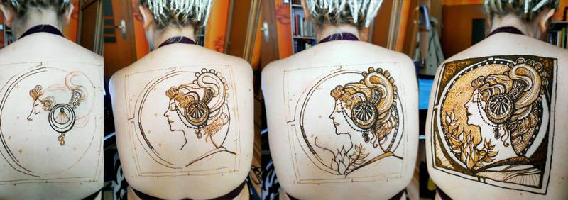 Alphonse Mucha and henna