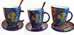 Blue Star Dog Mug