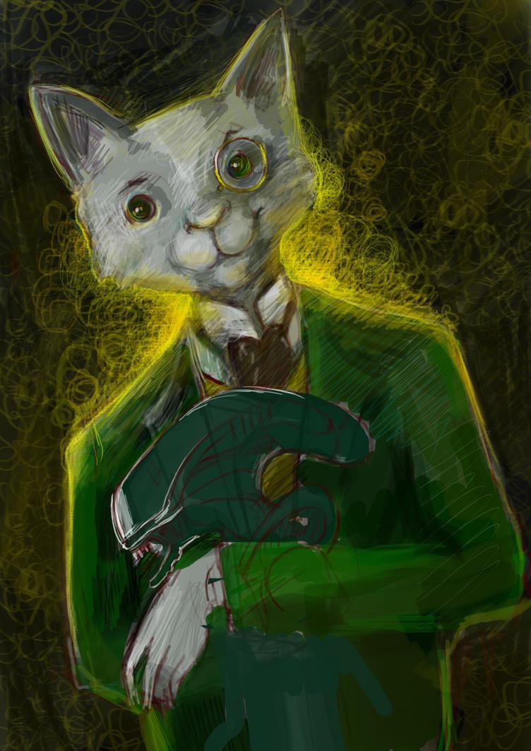 Work in progress Mr Cat by cydienne