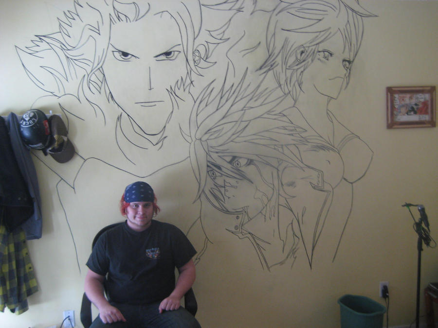 Air Gear Studio mural - Wip by S8-Art