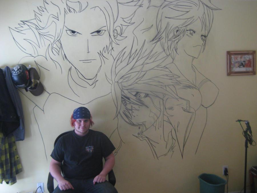 Air Gear Studio mural - Wip by S8-Art