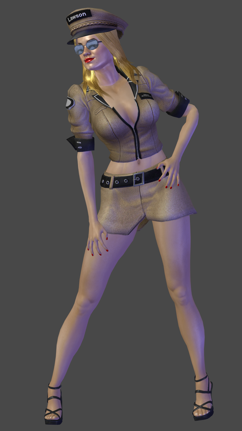 Officer Lawson W.I.P. by TheRaiderInside