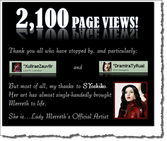 2100 Page Views! by LadyMerrethsAuthor
