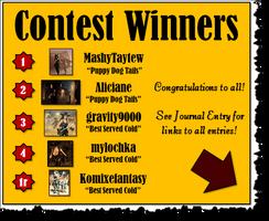 Lady Merreth's First Contest Winners by LadyMerrethsAuthor