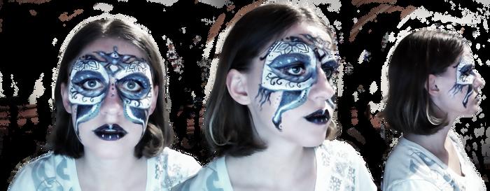 Face paint self portrait