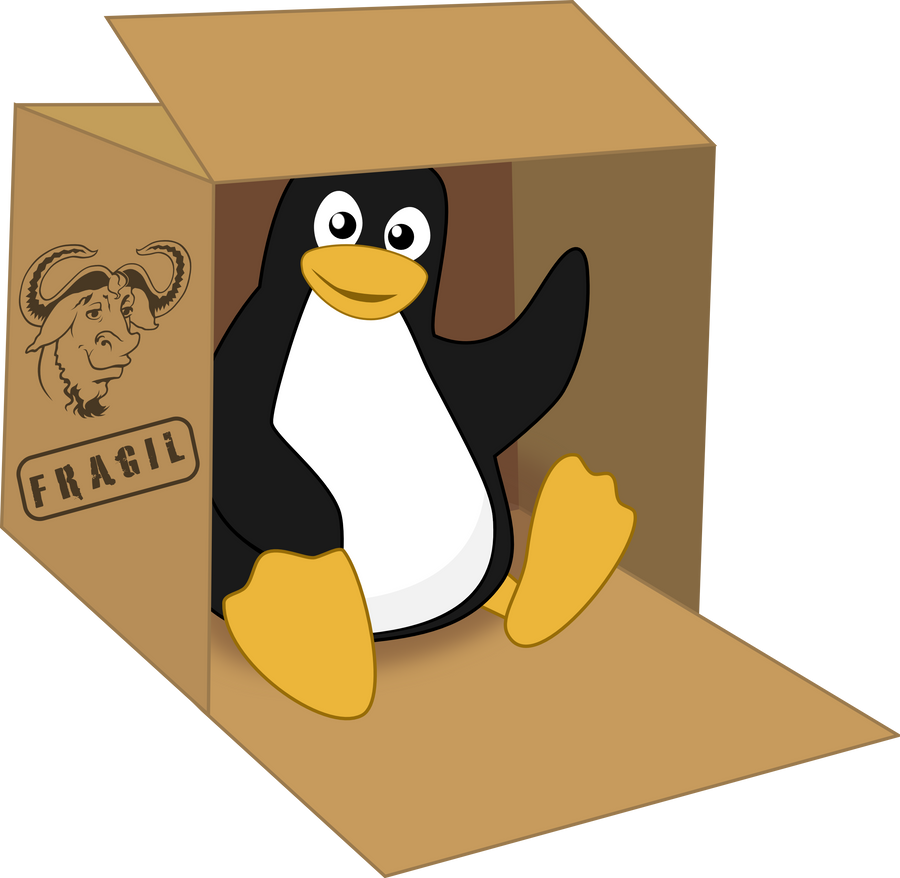 Tux in a box by MawsCM on DeviantArt