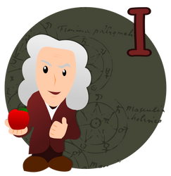I is for Isaac Newton