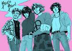 90s anime aesthetic group