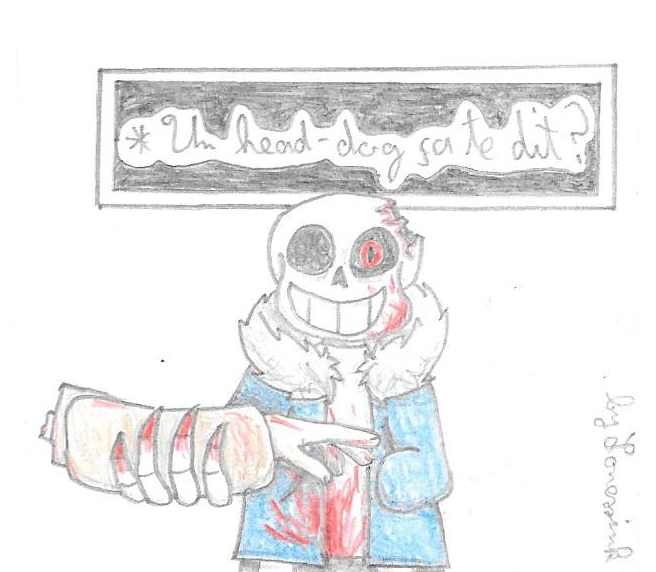 Horror Sans Head Dog Horrortale By Ink Loney On Deviantart