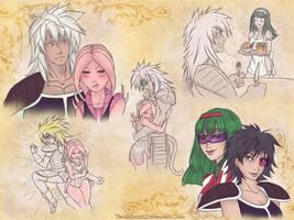 SketchPage: Lana and Kirdran - Amaranth and Vera by TsuchiKuroi