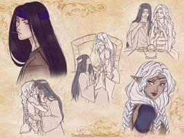 Sketchpage: Kazuo and Shol'ashys by TsuchiKuroi