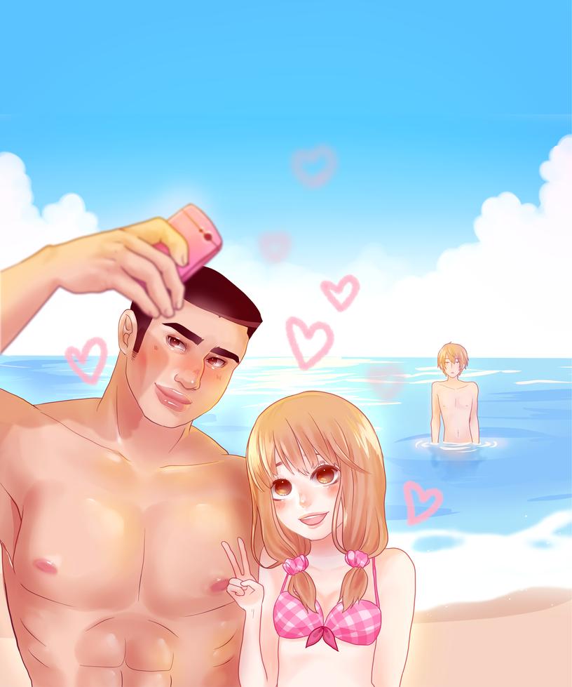 Beach Selfie by milkgrrl