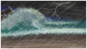 Free to use  stormy beach BG