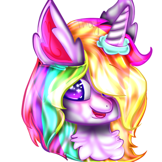 Rainbow Unicorn by KittyAnimations3560