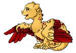 Dojo mascot pointing