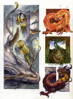 Elemental creatures by teriathanin