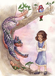 Alice Liddell and the Cat by teriathanin