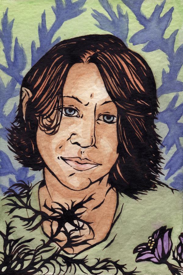 Inky self portrait