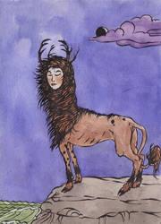 Llama deer person