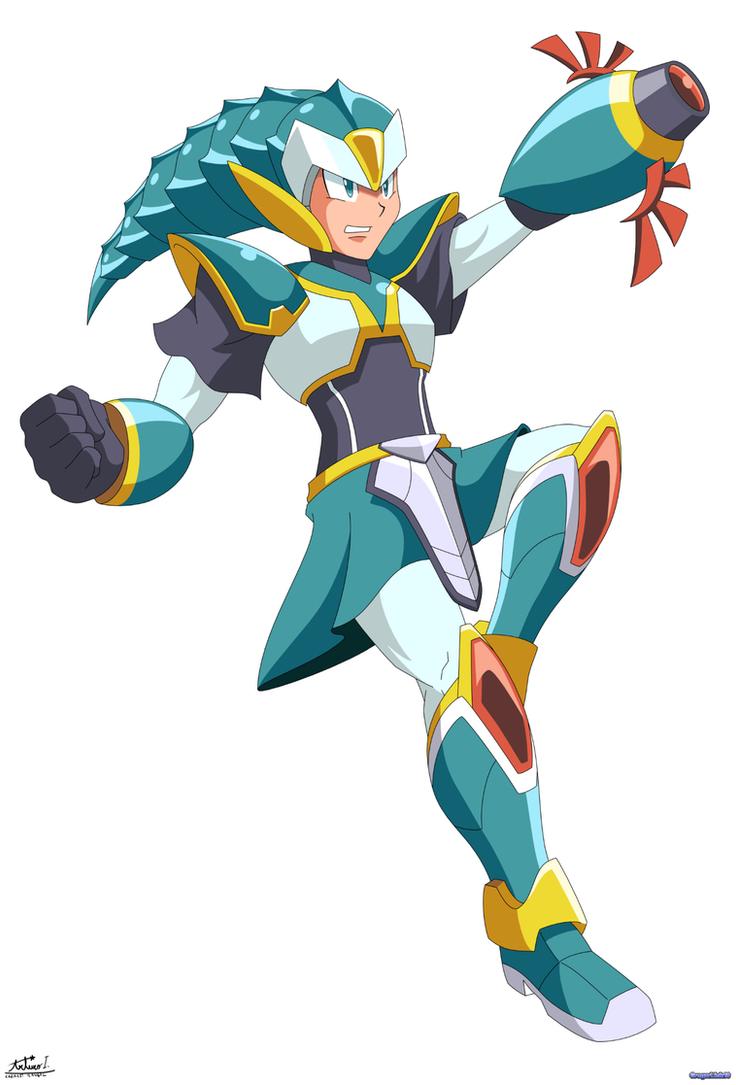Linx (Link + Mega Man X) by Gregarlink10