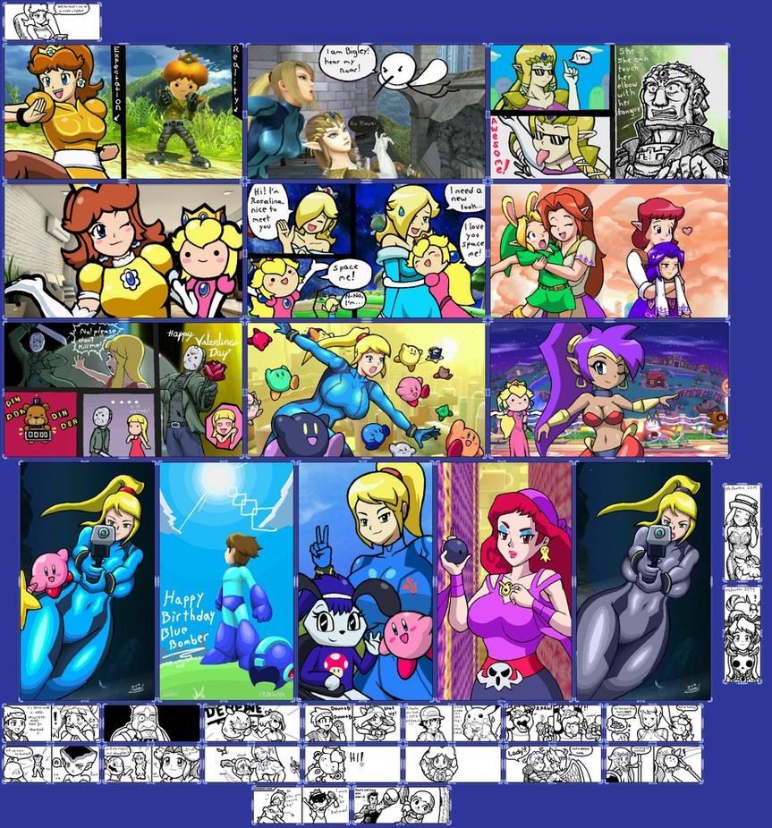 Miiverse doodles 4 (now in color!) by Gregarlink10