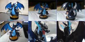 Mega Charizard X custom amiibo
