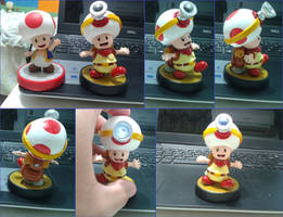 Captain Toad fan-made amiibo by Gregarlink10